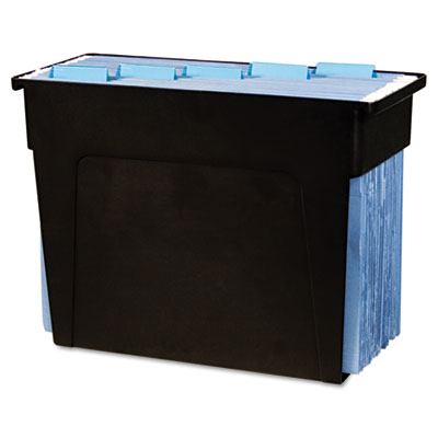 Desktop File Box, 6x13 1/2x 10 1/2, Black, Letter
