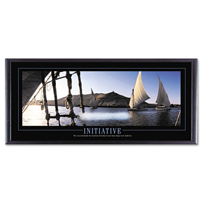 """Initiative"" Framed Motivational Print, 35 x 13"