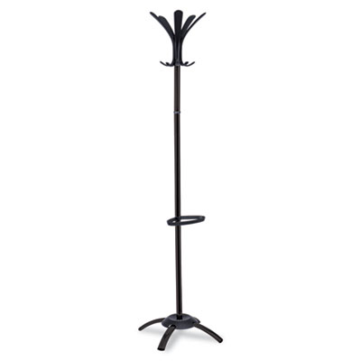CLEO Coat Stand, Stand Alone Rack, Ten Knobs, Metal/Plastic, Bla