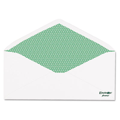 100% Recycled Paper Security Envelope, #10, 20 lb., 500/Box