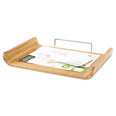 Desk Tray, Single Tier, Bamboo, Letter, Natural