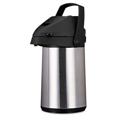 Direct Brew/Serve Insulated Airpot with Carry Handle, 2200mL, St