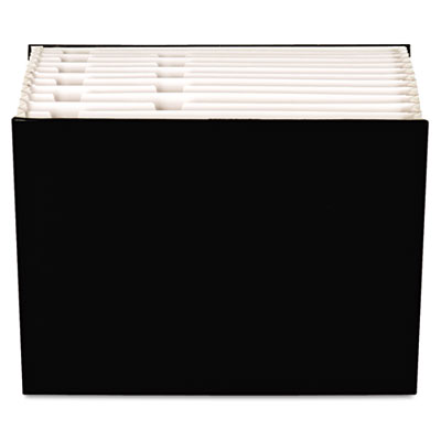"Case File, 12 Pocket,  3/4"" exp., Letter, Black, 1/ea"