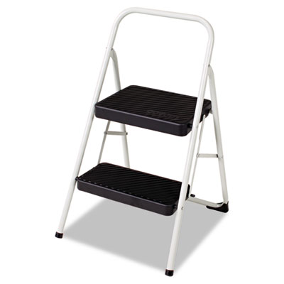 2-Step Folding Steel Step Stool, 200lbs, 17 3/8w x 18d x 28 1/8h