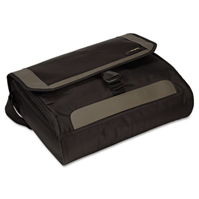 CityGear Miami Messenger Laptop Case, Nylon, 19 x 5 x 14, Black/