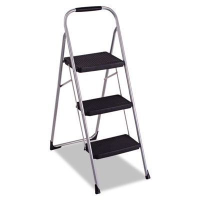 3-Step Big Step Folding Stool, 200lb, 17 3/4w x 28d x 45 5/8h, P