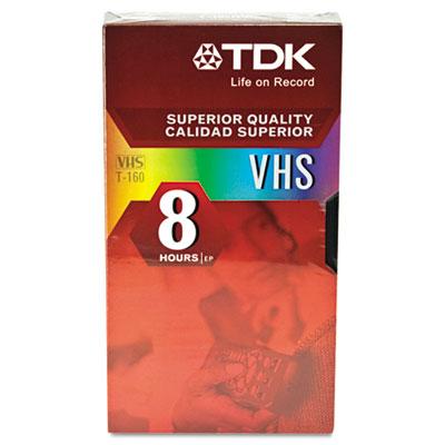 Standard Grade VHS Videotape Cassette, 8 Hours, Each