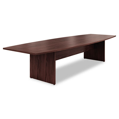 Preside Boat-Shaped Conference Table Top, 144w x 48d, Mahogany