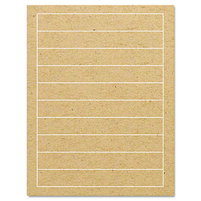 Brown Kraft Printer Labels, 1/2 x 7-1/4, Permanent Adhesive, 400