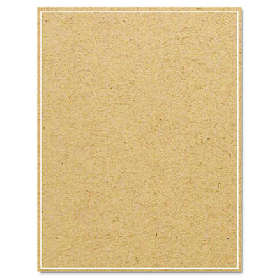 Brown Kraft Printer Labels, 8-1/2 x 11, Permanent Adhesive, 25/P