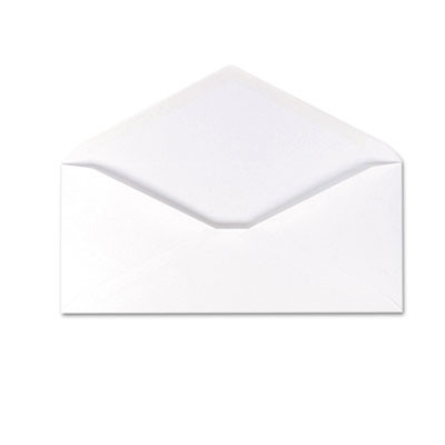 100% Recycled Paper Business Envelope, V-Flap, #10, White, 500/B