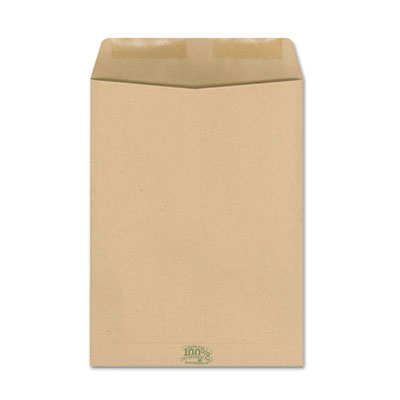 100% Recycled Paper Catalog Envelope, Side Seam, 9 x 12, Kraft,