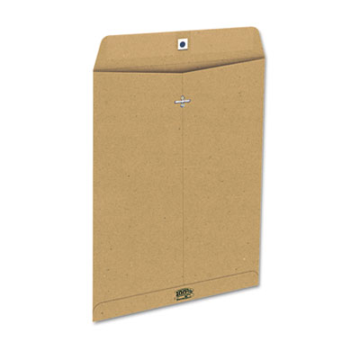 100% Recycled Paper Envelope, Side Seam, 10x13, Natural Brown, 1
