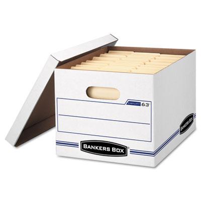 EasyLift Storage Box, Letter/Letter, Lift-Off Lid, White/Blue, 1