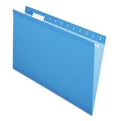Reinforced Hanging Folders, 1/5 Tab, Legal, Blue, 25/Box