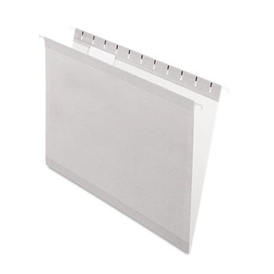 Reinforced Hanging Folders, 1/5 Tab, Letter, Gray, 25/Box