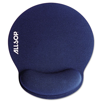 "Memory Foam Mouse Pad with Wrist Rest, Blue, 7 1/4"" x 8 1/4"""
