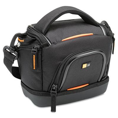 Compact Camcorder Case, Nylon, 7 7/25 x 4 1/2 x 6 7/10, Black