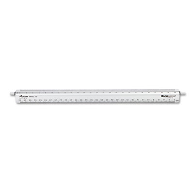 "Adjustable Triangular Scale Aluminum Engineers Ruler, 12"", Silve"