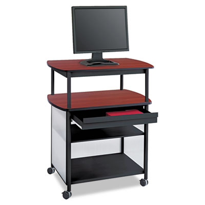 Impromptu AV Cart With Storage Drawer, Three-Shelf, 36-1/2 x 26