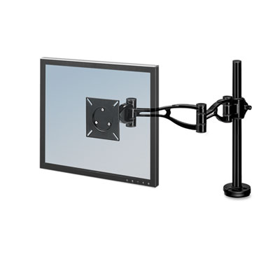 Depth Adjustable Monitor Arm, 21 x 4-1/2 x 24, Black