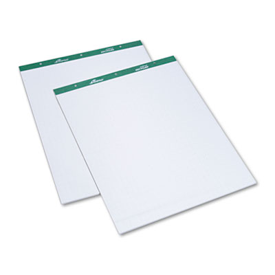 Flip Chart Pads, Quadrille Rule, 27 x 34, White, Two 50-Sheet Pa