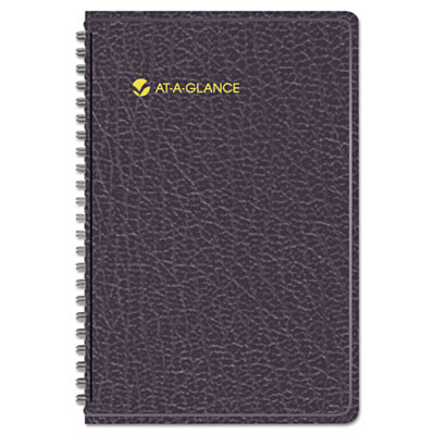 "Recycled Weekly Appointment Book, Black, 4 7/8"" x 8"", 2015"