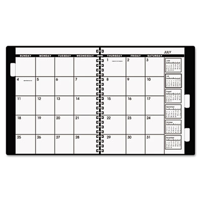 Appointment Book Refill For Three- Or Five-Year Planner, Black,