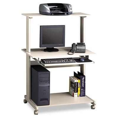 Eastwinds Multimedia Workstation, 36-3/4w x 21-1/4d x 50h, Gray
