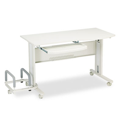 Eastwinds Mobile Work Table, 57w x 23-1/2d x 29h, Gray