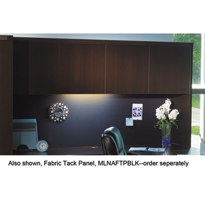 Aberdeen Series Laminate Wood Door Hutch, 72w x 15d x 39h, Mocha
