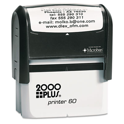 2000 PLUS Self-Inking Custom Message Stamp, 3 x 1 7/16