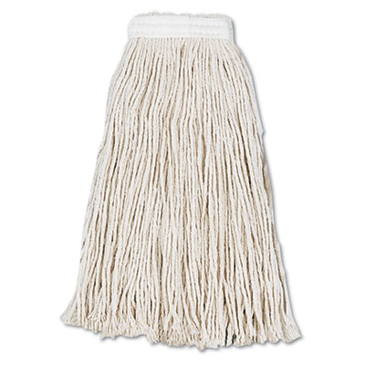 Cut-End Wet Mop Head, Cotton, No. 16, White, 12/Carton