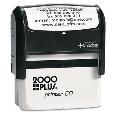 2000 PLUS Self-Inking Custom Message Stamp, 2 1/2 x 1 1/16