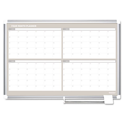4 Month Planner, 36x24, Aluminum Frame