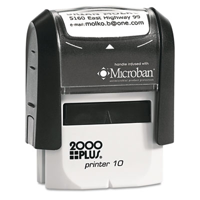 2000 PLUS Self-Inking Custom Message Stamp, 1 x 5/16
