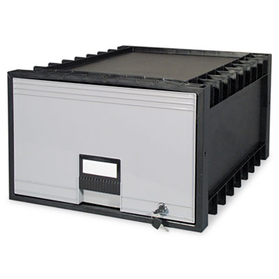 "Archive Drawer for Legal Files Storage Box, 24"" Depth, Black/Gra"