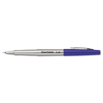 Flair Porous Point Stick Free-Flowing Liquid Pen, Blue Ink, Ultr