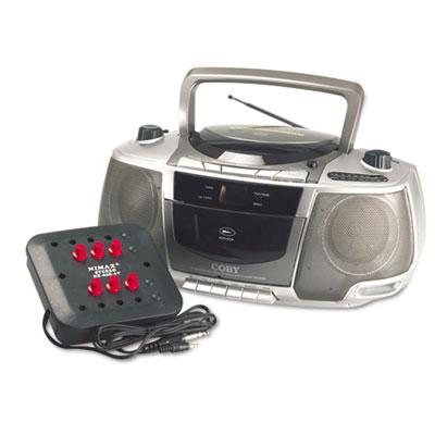 Six-Station Listening Center/Boombox, Gray
