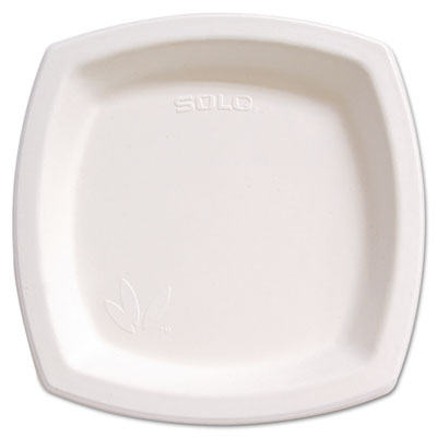 "Bare Eco-Forward Dinnerware, 8 1/4"" Plate, Ivory, 125/Pack"