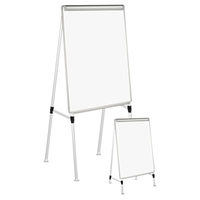 Adjustable White Board Easel, 29 x 41, White/Silver