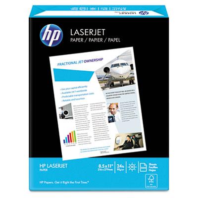 LaserJet Paper, 98 Brightness, 24lb, 8-1/2 x 11, Ultra White, 50