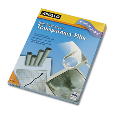 Plain Paper Transparency Film for Laser Devices, Letter, Clear,
