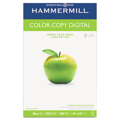 Copy Paper, 100 Brightness, 28lb, 8-1/2 x 14, Photo White, 500/R