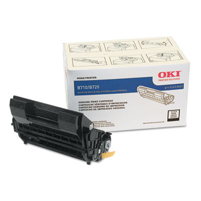 52123602 High-Yield Toner, 20,000 Page Yield, Black<br />91-OKI-52123602