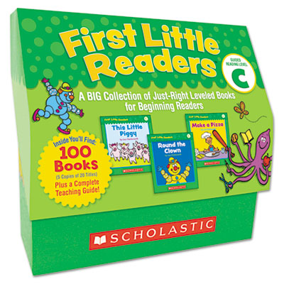 First Little Readers Level C, 100 books, teaching guide, PreK-2