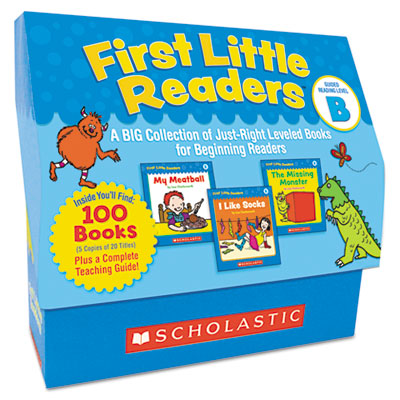 First Little Readers Level B, 100 books, teaching guide, PreK-2
