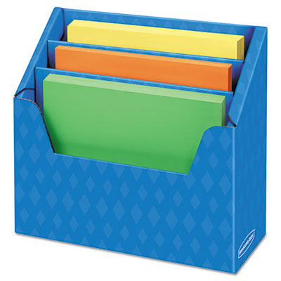 Folder Holder with Compartment Organizer, 12 1/2 x 9 x 5 5/8, Bl