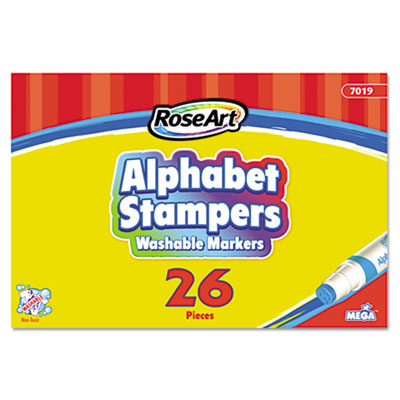 Alphabet Stampers Washable Markers, 26 Lettered Markers A-Z, 26/