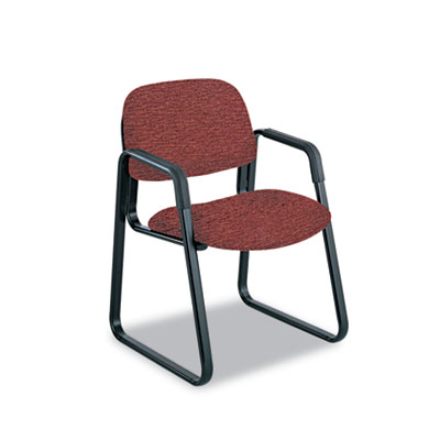 Cava Urth Collection Sled Base Guest Chair, Burgundy